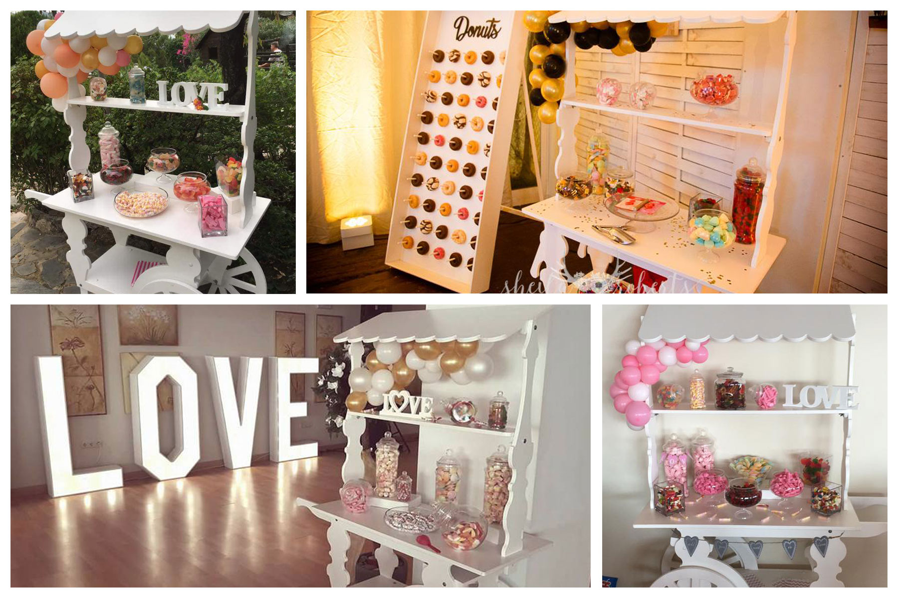 Candy carts for weddings