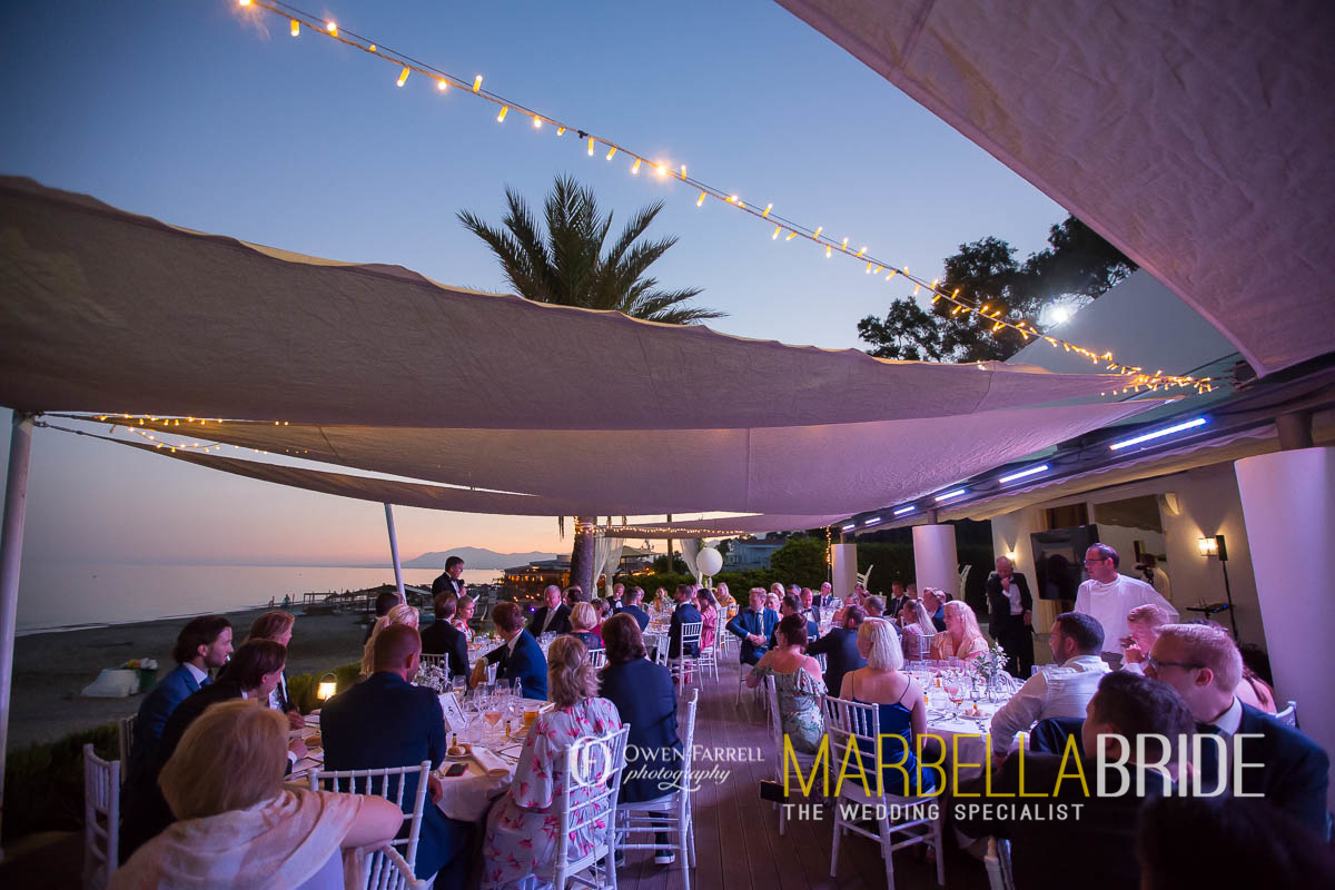 Beach wedding venue Spain