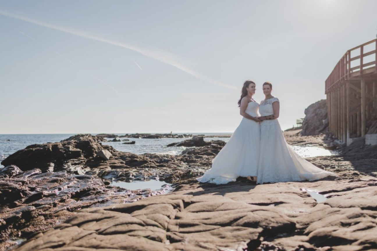 Beach wedding in Spain, same sex