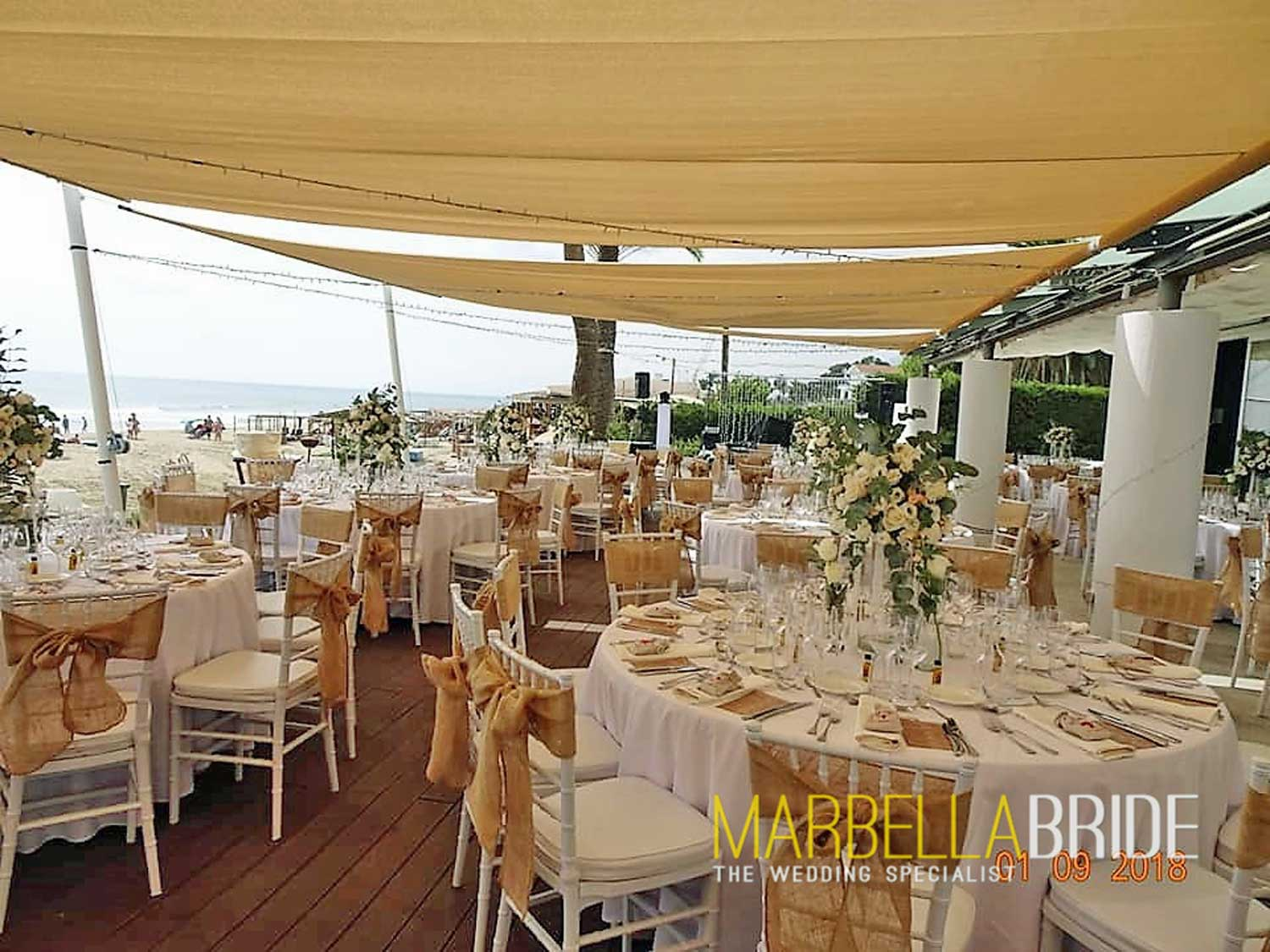 Beach wedding venue Marbella