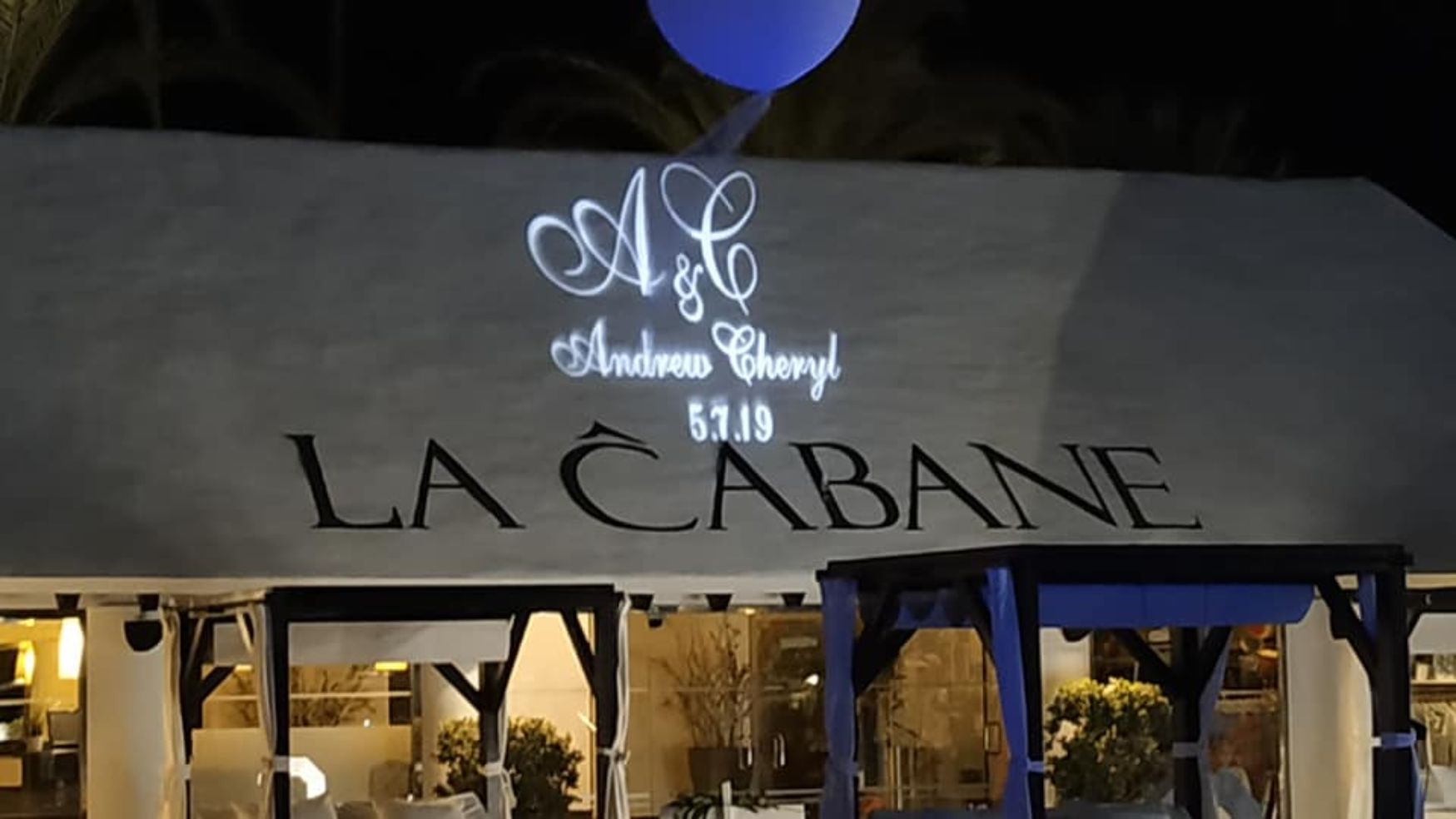 Projected lettering Marbella