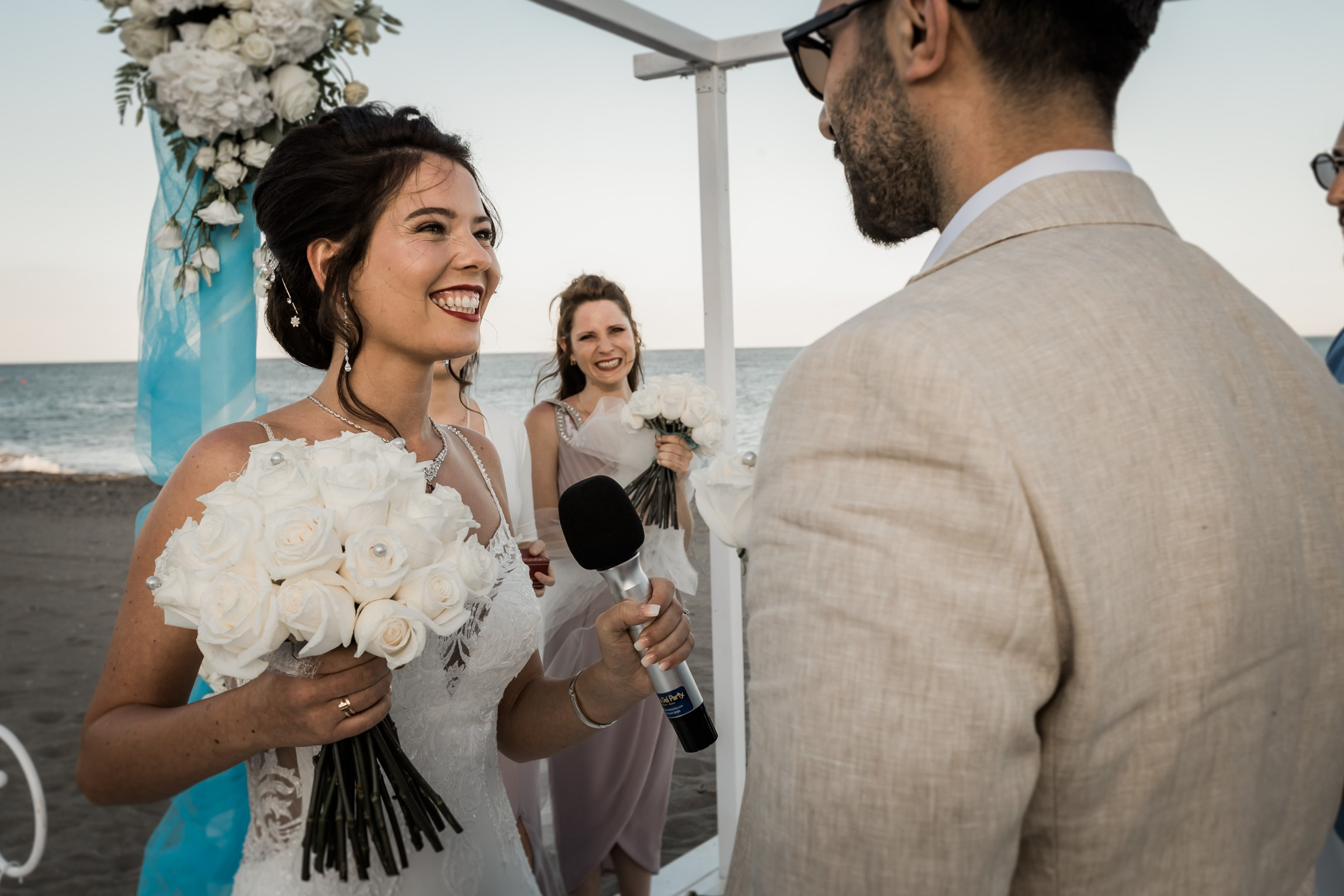 Beach club wedding Marbella